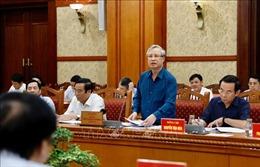 Phiên họp thứ ba của Tiểu ban Tổ chức phục vụ Đại hội XIII của Đảng