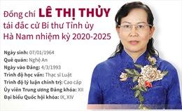 Đồng chí Lê Thị Thủy tái đắc cử Bí thư Tỉnh ủy Hà Nam khóa XX