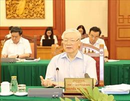 Bộ Chính trị làm việc về đại hội 10 đảng bộ trực thuộc Trung ương