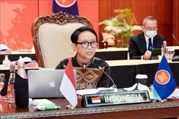Ngoại trưởng Indonesia nhấn mạnh hợp tác y tế và phục hồi kinh tế