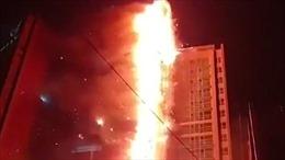 Cháy lớn tại chung cư Hàn Quốc
