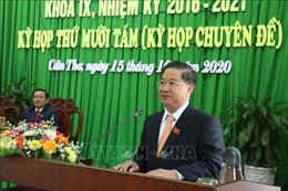 Đồng chí Trần Việt Trường được bầu giữ chức Chủ tịch UBND thành phố Cần Thơ