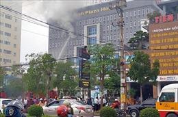 Kịp thời dập tắt đám cháy tại khách sạnở thành phố Vinh, Nghệ An