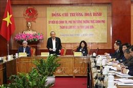 Phó Thủ tướng Thường trực Chính phủ Trương Hòa Bình làm việc tại Lạng Sơn