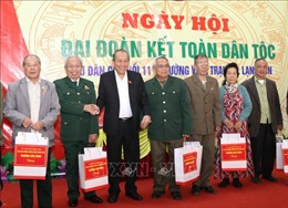 Phó Thủ tướng Trương Hòa Bình dự Ngày hội Đại đoàn kết toàn dân tộc tại tỉnh Lạng Sơn