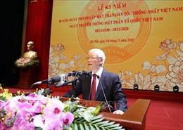 Diễn văn của Tổng Bí thư, Chủ tịch nước tại Lễ kỷ niệm 90 năm Ngày truyền thống Mặt trận Tổ quốc Việt Nam