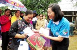 Đồng hành cùng phụ nữ biên cương khắc phục hậu quả lũ lụt