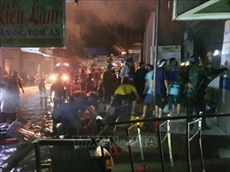 Cháy cửa hàng kinh doanh kim - khí - điện máy tại chợ Năm Căn, Cà Mau