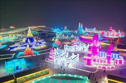 Khai mạc Lễ hội Băng đăng 2021 ở Cáp Nhĩ Tân, Trung Quốc