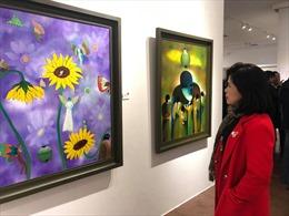 Khai mạc triển lãm tranh cá nhân đầu tiên của Nhà thơ Nguyễn Quang Thiều