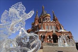 Độc đáo festival điêu khắc băng ở Udmurtia