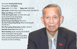 Quá trình công tác của nguyên Phó Thủ tướng Chính phủ Trương Vĩnh Trọng