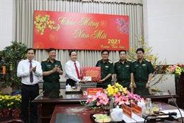 Đồng chí Trần Thanh Mẫn thăm, chúc Tết Bộ Tư lệnh Quân khu 9
