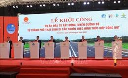 Khởi công dự án tuyến đường bộ từ thành phố Thái Bình đi cầu Nghìn