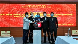 Lào Cai: Ra mắt phần mềm cuộc thi trắc nghiệm tìm hiểu văn kiện Đại hội Đảng