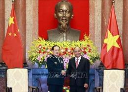 Chủ tịch nước Nguyễn Xuân Phúc tiếp Bộ trưởng Bộ Quốc phòng Trung Quốc