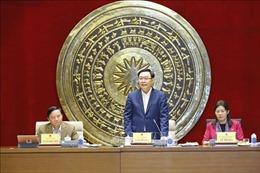 Chủ tịch Quốc hội Vương Đình Huệ làm việc với Ủy ban Tư pháp của Quốc hội