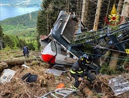 Italy chưa tìm ra nguyên nhân vụ rơi cáp treo làm 14 người thiệt mạng