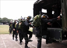 Hàng trăm chiến sỹ CSCĐ lên đường hỗ trợ tỉnh Bắc Giang đảm bảo ANTT và phòng, chống dịch