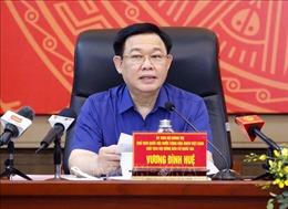 Chủ tịch Quốc hội Vương Đình Huệ làm việc với Ban Thường vụ Thành ủy Hải Phòng