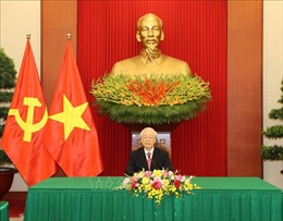 Tổng Bí thư Nguyễn Phú Trọng điện đàm với đồng chí Miguel Diaz-Canel