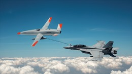 Mỹ sử dụng máy bay không người lái để tiếp nhiên liệu cho máy bay tiêm kích