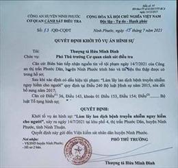 Khởi tố vụ án hình sự làm lây lan dịch bệnh tại Ninh Phước, Ninh Thuận
