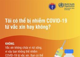 Có thể bị nhiễm COVID-19 từ vaccine hay không?
