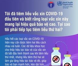 Tại sao phải tiếp tục tiêm vaccine phòng COVID-19 liều thứ hai?