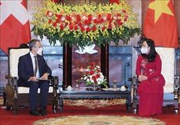 Phó Chủ tịch nước Võ Thị Ánh Xuân tiếp xã giao Phó Tổng thống, Bộ trưởng Ngoại giao Thụy Sỹ