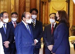 Chủ tịch nước Nguyễn Xuân Phúc tiếp Phó Tổng thống Hoa Kỳ Kamala Harris