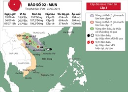 Cơn bão số 2 tiến gần vùng biển các tỉnh Quảng Ninh-Ninh Bình
