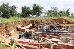 Xử lý nghiêm các sai phạm trong khai thác cát trên sông Krông Nô