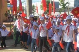 Rộn ràng lễ khai giảng tại các trường học vùng ngập Chương Mỹ-Hà Nội