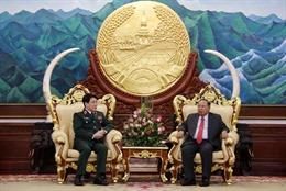 Tổng Bí thư, Chủ tịch nước Lào tiếp Thượng tướng Lương Cường