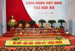 Tổng Bí thư Nguyễn Phú Trọng dự Đại hội Công đoàn Việt Nam lần thứ XII