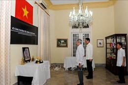 Lễ viếng và mở sổ tang nguyên Tổng Bí thư Đỗ Mười tại Cuba, Ấn Độ và Indonesia