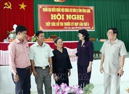 Quyền Chủ tịch nước Đặng Thị Ngọc Thịnh tiếp xúc cử tri huyện Tam Bình, tỉnh Vĩnh Long