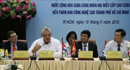 Cuba tìm hiểu mô hình Khu công nghệ cao Thành phố Hồ Chí Minh