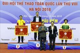 Hà Nội nhất toàn đoàn tại Đại hội thể thao toàn quốc năm 2018