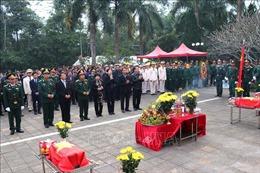 Lễ truy điệu và an táng hài cốt liệt sỹ tại Hà Giang