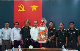 Bí thư Thành ủy TP Hồ Chí Minh thăm, chúc Tết các đơn vị lực lượng vũ trang