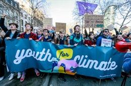 Hàng chục nghìn học sinh, sinh viên Bỉ tham gia tuần hành chống biến đổi khí hậu