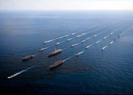 Hải quân Nga, Trung Quốc và Iran diễn tập bắn các mục tiêu trên biển
