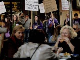 Tuần hành quy mô lớn tại Tây Ban Nha trong ngày Quốc tế phụ nữ