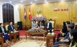 Đoàn đại biểu Quốc hội Vương quốc Campuchia thăm tỉnh Hà Nam