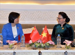Chủ tịch Quốc hội Nguyễn Thị Kim Ngân tiếp Phó Ủy viên trưởng Nhân đại Trung Quốc
