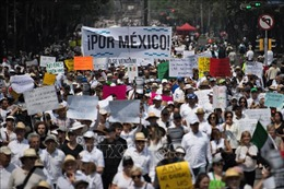Khoảng 6.000 người tuần hành phản đối chính phủ tại Mexico