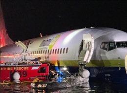 Mỹ xác định nguyên nhân khiến máy bay Boeing 737 lao xuống sông tại Florida