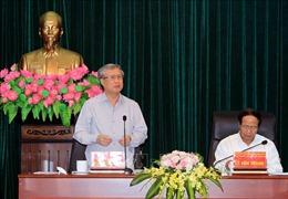 Đoàn Tiểu ban Văn kiện Đại hội XIII của Đảng làm việc với Ban Thường vụ Thành ủy Hải Phòng